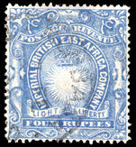 British East Africa 1890-95 4r ultramarine fine used.