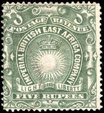 British East Africa 1890-95 5r grey-green fine used.