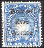 British East Africa 1895 8a blue fine used.