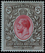 British East Africa 1912-21 2r red and black on blue Mult Crown CA lightly mounted mint.
