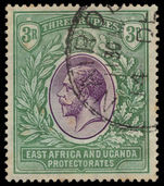 British East Africa 1912-21 3r violet and green Mult Crown CA fine used.