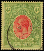 British East Africa 1912-21 4r red and green on yellow Mult Crown CA fine used.