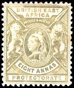 British East Africa 1896-1902 8a grey-olive lightly mounted mint.