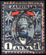 British East Africa 1897 2½a on 1a type 12 fine used.