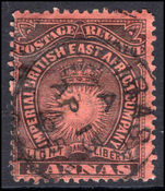 British East Africa 1890-95 3a black on dull red fine used.