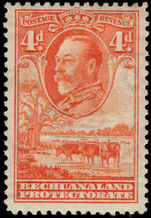 Bechuanaland 1932 4d orange mounted mint.