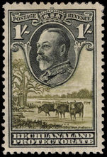 Bechuanaland 1932 1s black and olive-green mounted mint.