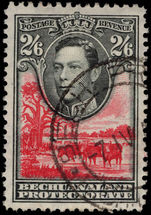 Bechuanaland 1938-52 2s6d black and scarlet used.