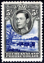 Bechuanaland 1938-52 5s black and deep ultramarine mounted mint.