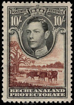 Bechuanaland 1938-52 10s black and red-brown mounted mint.