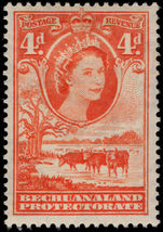 Bechuanaland 1955-58 4d red-orange mounted mint.