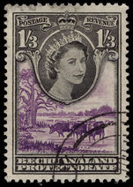 Bechuanaland 1955-58 1s3d black and lilac used.