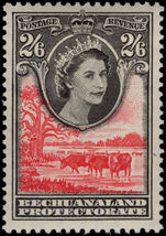 Bechuanaland 1955-58 2s6d black and rose-red mounted mint.