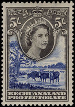 Bechuanaland 1955-58 5s black and violet-blue mounted mint.