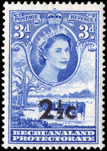 Bechuanaland 1961 2 ½c on 3d bright ultramarine mounted mint.