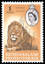 Bechuanaland 1961 1r Lion mounted mint.