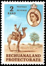 Bechuanaland 1961 2r Police Camel Patrol mounted mint.