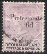 Bechuanaland 1888 6d on 6d lilac and black used.