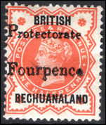 Bechuanaland 1889 FOURPENCE mounted mint.