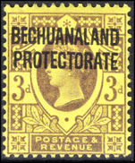 Bechuanaland 1897-1902 3d purple on yellow mounted mint.