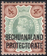 Bechuanaland 1897-1902 4d green and purple-brown mounted mint.