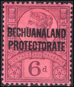 Bechuanaland 1897-1902 6d purple on rose-red mounted mint.