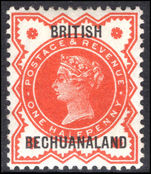 Bechuanaland 1888 ½d vermillion heavily hinged.