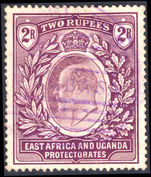 East Africa and Uganda 1904-07 2r dull and bright purple fine used.