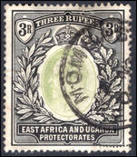 East Africa and Uganda 1904-07 3r grey-green and black (faults) fine used.