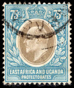 East Africa and Uganda 1907-08 75c grey and pale blue fine used.