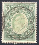 East Africa and Uganda 1903-04 1r green fine used.