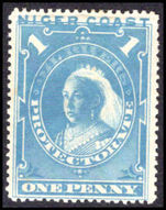 Niger Coast 1894 1d dull blue lightly mounted mint.