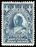 Niger Coast 1897-98 2½d deep bright blue perf 14½-15 watermark lightly mounted mint.