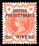 Oil Rivers 1892-94 ½d vermillion lightly mounted mint.