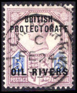 Oil Rivers 1892-94 5d dull-purple and blue fine used.