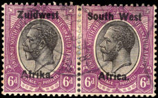 South West Africa 1923-26 6d black and violet setting III fine used