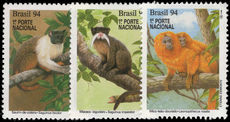 Brazil 1994 Endangered Mammals unmounted mint.