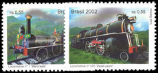 Brazil 2002 Trains unmounted mint.