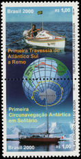 Brazil 2000 Voyages by Amyr Klink unmounted mint.