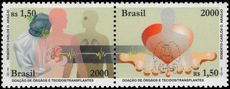 Brazil 2000 Organ Donation unmounted mint.