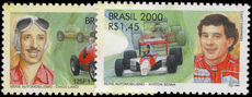 Brazil 2000 Motor Racing Personalities unmounted mint.