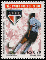 Brazil 2001 Santos Football Club unmounted mint.