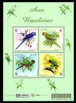 Brazil 2001 Birds souvenir sheet unmounted mint.