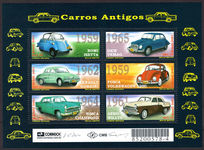 Brazil 2001 Cars souvenir sheet unmounted mint.