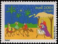 Brazil 2001 Christmas unmounted mint.