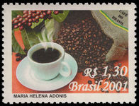 Brazil 2001 Coffee unmounted mint.