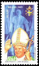 Brazil 2005 Pope John Paul unmounted mint.