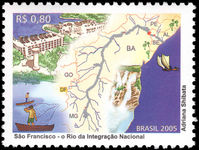 Brazil 2005 San Francisco River unmounted mint.