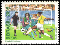 Brazil 2005 Womens Football unmounted mint.