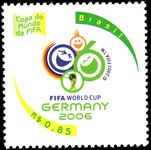 Brazil 2006 World Cup Football unmounted mint.